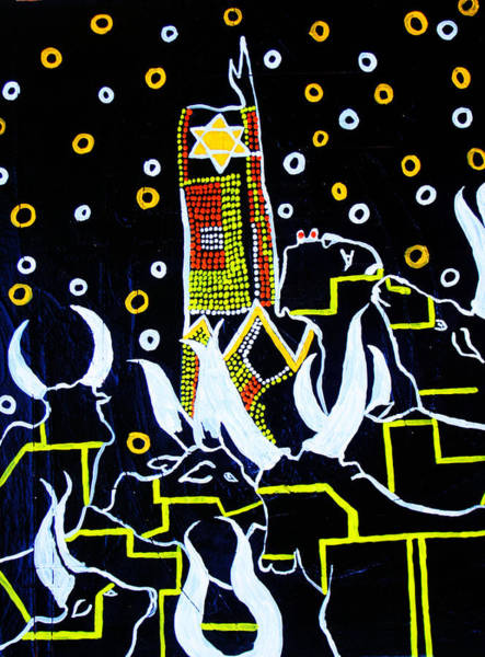 Painting - New Nation - South Sudan by Gloria Ssali
