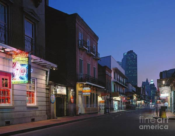 Photograph - New Orleans, Bourbon Street.  by Granger