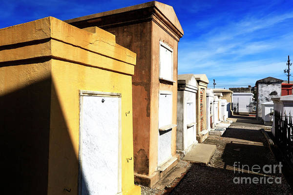 Photograph - New Orleans Cemetery Colors by John Rizzuto