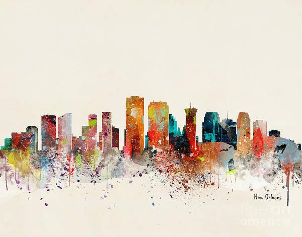Louisiana Painting - New Orleans Skyline by Bri Buckley