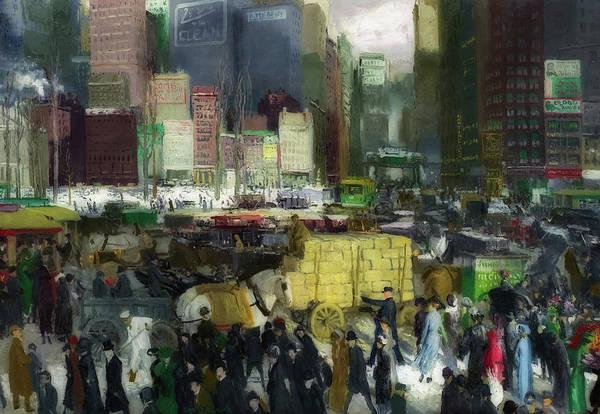 Manhattan Skyline Painting - New York 1911 by George Wesley Bellows