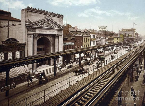 Photograph - New York, Bowery, C1900 by Granger