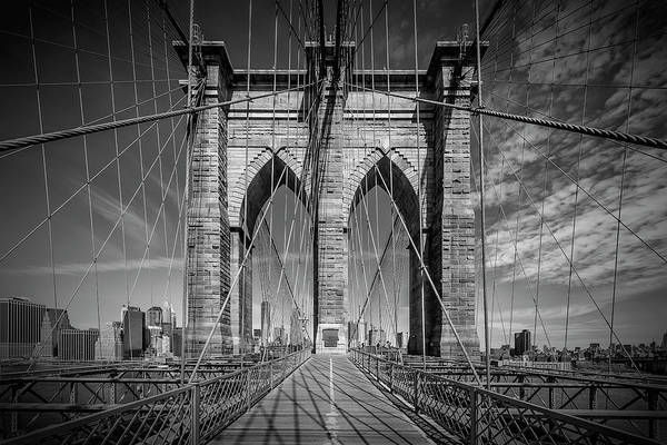 Wall Art - Photograph - New York City Brooklyn Bridge In Detail by Melanie Viola