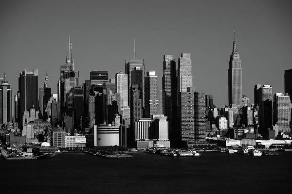 Photograph - New York City Skyline Bw 10 by Frank Romeo