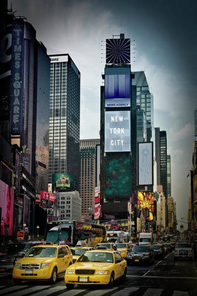 Town Square Photograph - New York City Times Square by Melanie Viola