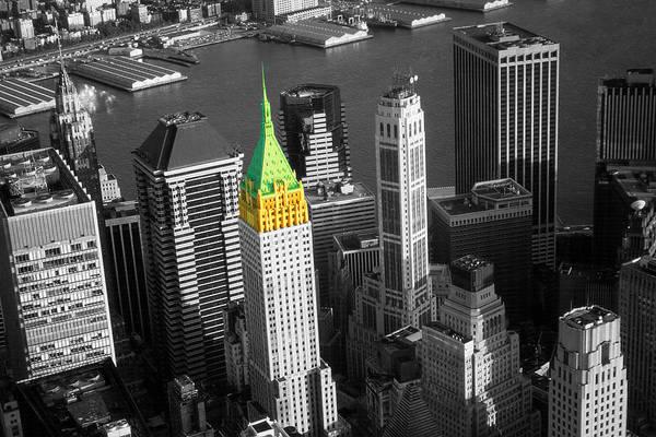 Photograph - New York Wall Street Skyline - Highlight Photo by Peter Potter