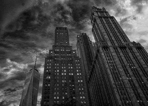 Lady Liberty Photograph - New York Highrise by Martin Newman