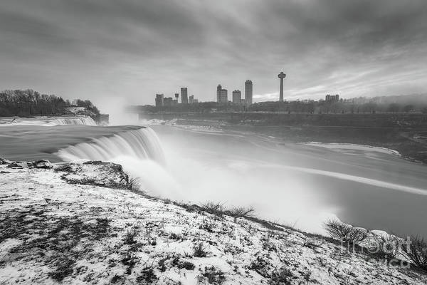 Photograph - New York Niagara Falls Sunset by Michael Ver Sprill