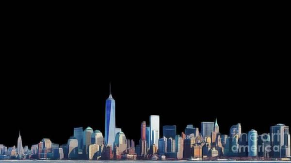 City Landscape Wall Art - Painting - New York Skyline by John Springfield