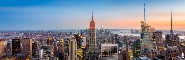 Photograph - New York Skyline Panorama by Mihai Andritoiu