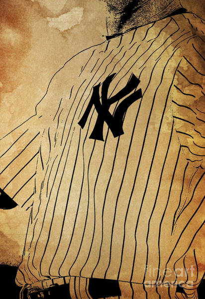 Wall Art - Painting - New York Yankees Baseball Team Vintage Card by Drawspots Illustrations
