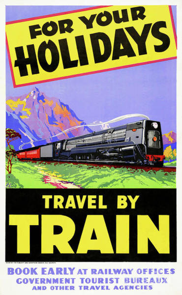 Wall Art - Drawing - New Zealand Vintage Travel Poster Restored by Vintage Treasure