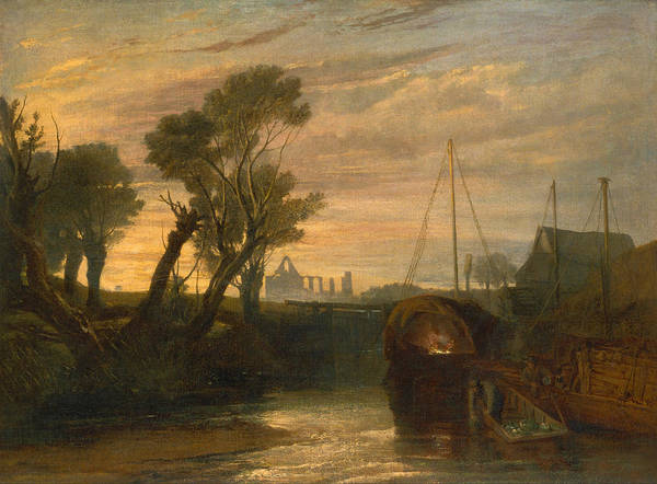 J. M. W. Turner Painting - Newark Abbey by JMW Turner