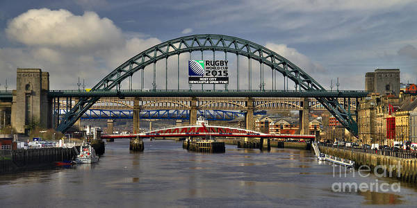 Photograph - Newcastle Upon Tyne Bridges by Martyn Arnold