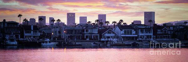 Wall Art - Photograph - Newport Beach Skyline Sunrise Panorama Photo by Paul Velgos