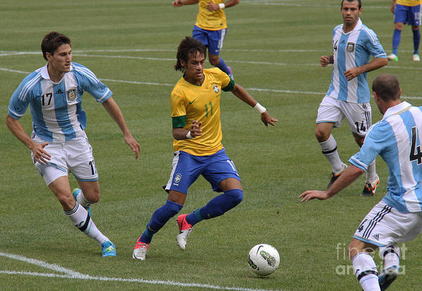 Wall Art - Photograph - Neymar Doing His Thing II by Lee Dos Santos