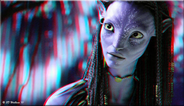 Fx Photograph - Neytiri - Use Red And Cyan 3d Glasses by Brian Wallace