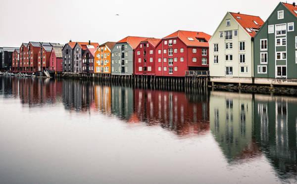 Nidelva Bryggen Trondheim Norway Art Print