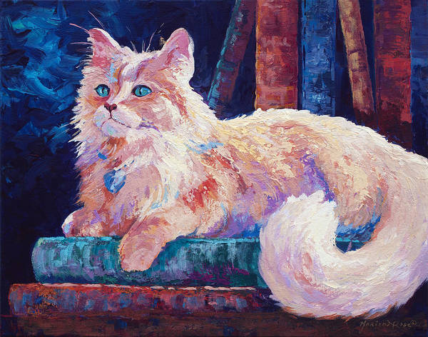 Domestic Cat Wall Art - Painting - Nietzsche by Marion Rose