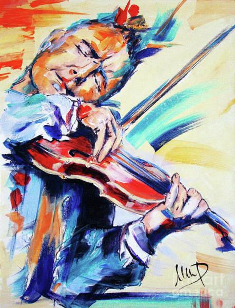 Violinist Wall Art - Painting - Nigel Kennedy by Melanie D