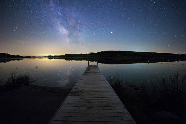 Photograph - Night At The Lake by Aaron J Groen