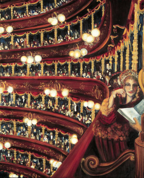 Ione Painting - Night At The Opera by Ione Citrin