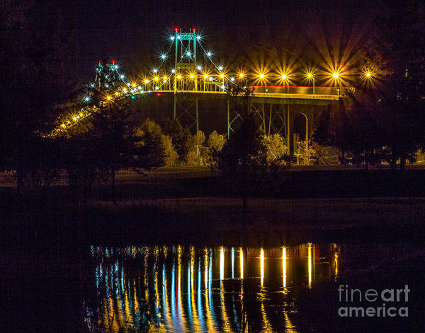 Photograph - Night Reflections by Rod Best