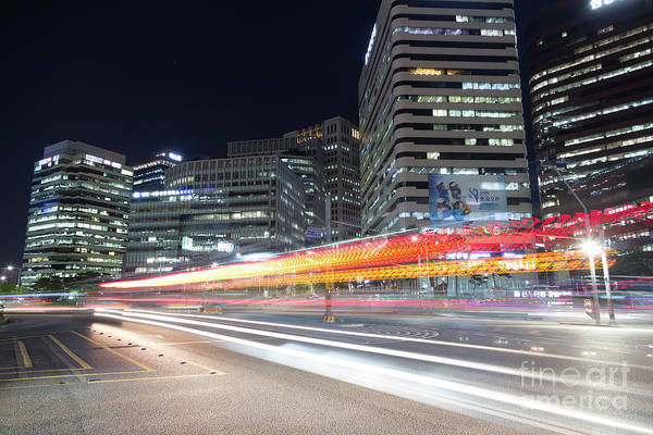 Photograph - Night Rush In Seoul by Didier Marti