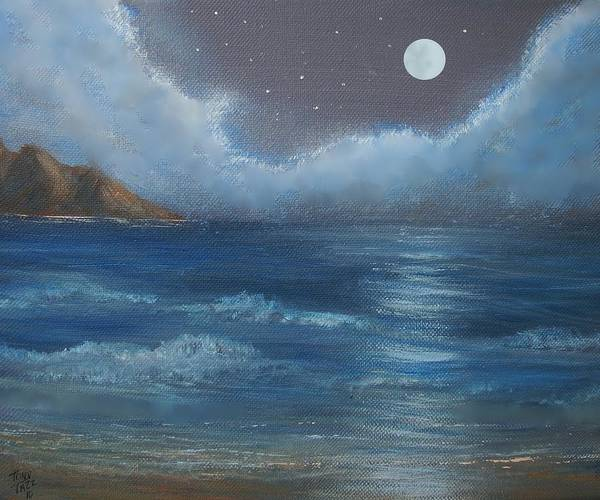 Night Seascape Art Print