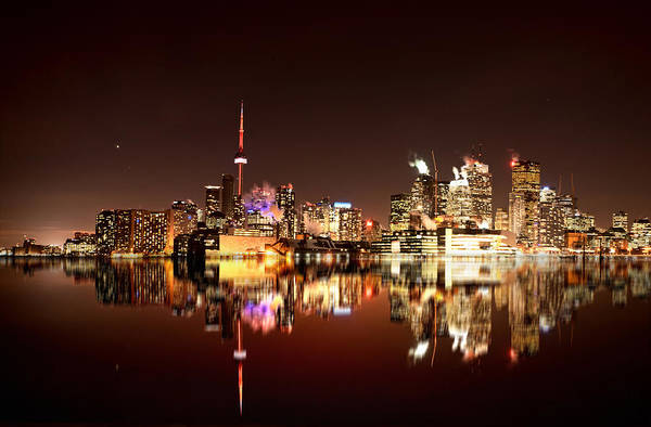 Wall Art - Photograph - Night Shot Toronto by Mark Duffy