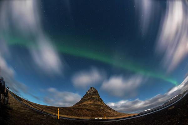 Photograph - Night Sky Aurora Blast, Iceland by Pradeep Raja PRINTS