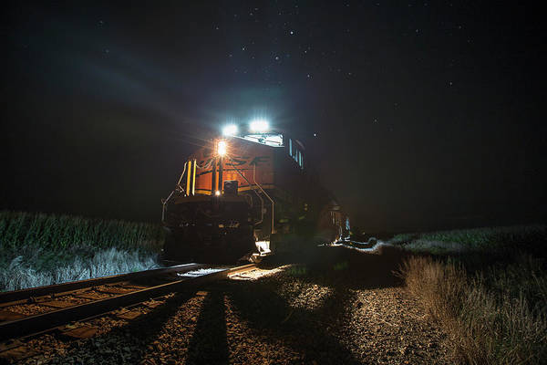 Photograph - Night Train by Aaron J Groen
