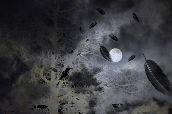 Mixed Media - Surreal Art Night Vision I by Lesa Fine