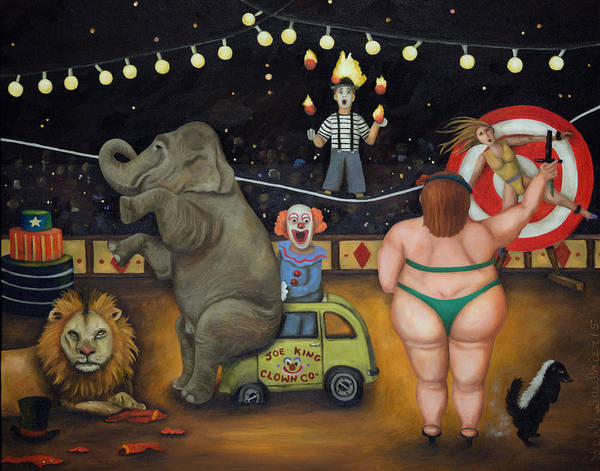 Wall Art - Painting - Nightmare Circus by Leah Saulnier The Painting Maniac