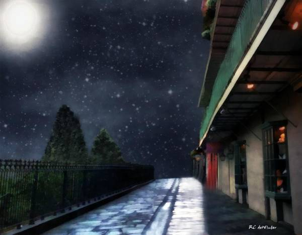 Painting - Nightwalk by RC DeWinter