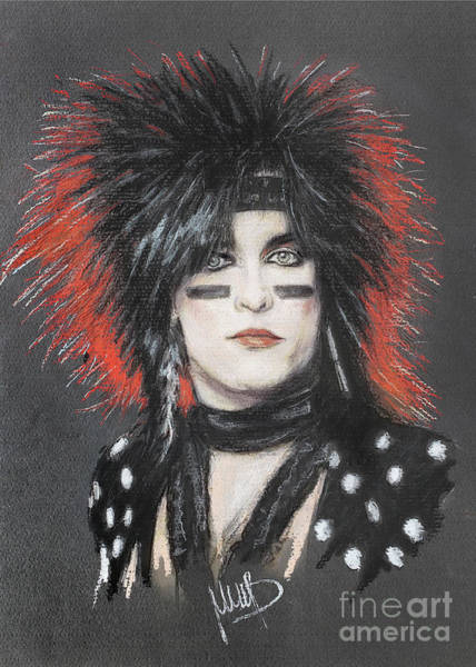 Bassist Wall Art - Painting - Nikki Sixx 1 by Melanie D