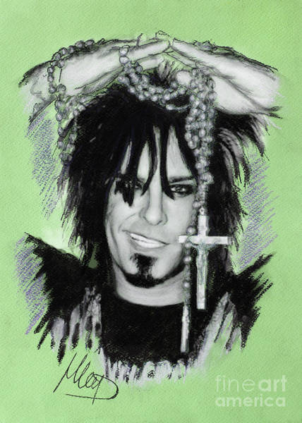 Bassist Wall Art - Drawing - Nikki Sixx 2 by Melanie D