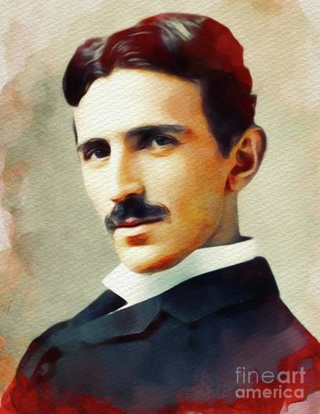 Invention Painting - Nikola Tesla, Inventor by John Springfield