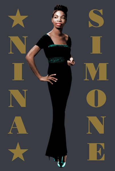 What Is Life Digital Art - Nina Simone by David Richardson