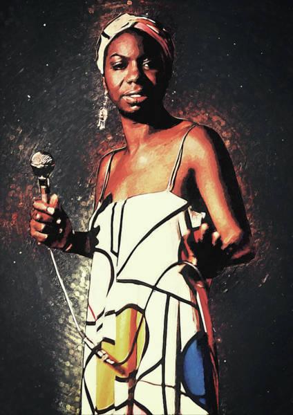 Digital Art - Nina Simone by Zapista Zapista