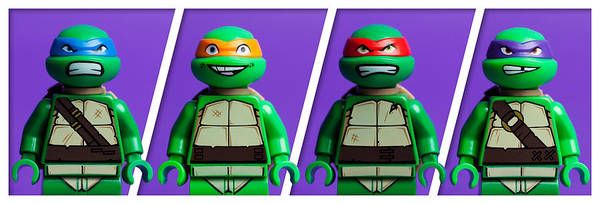 Figurine Wall Art - Photograph - Ninja Turtles by Samuel Whitton