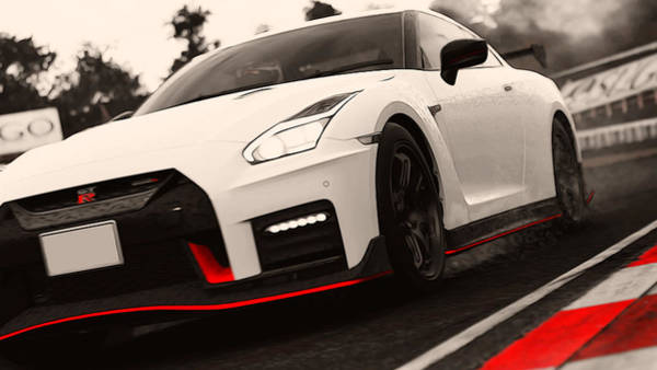 Painting - Nissan Gtr by Andrea Mazzocchetti