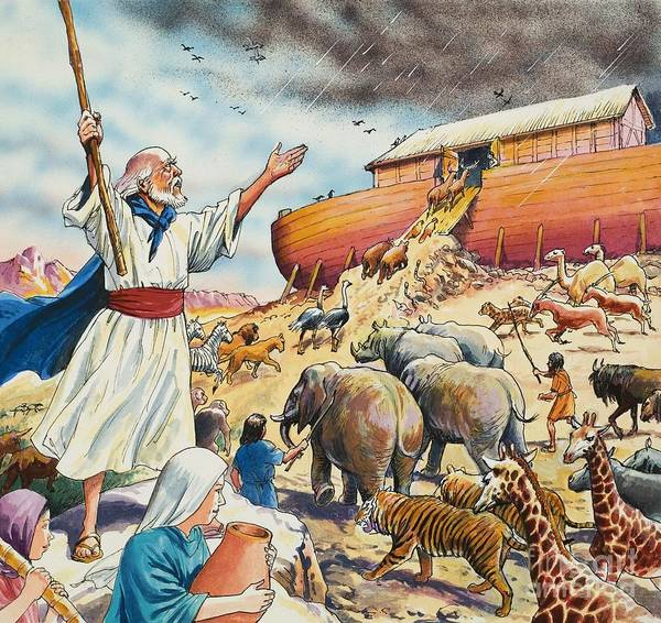 Save Painting - Noah's Ark by English School