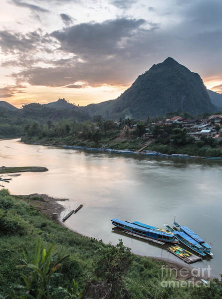 Photograph - Nong Khiaw Sunset In North Laos by Didier Marti
