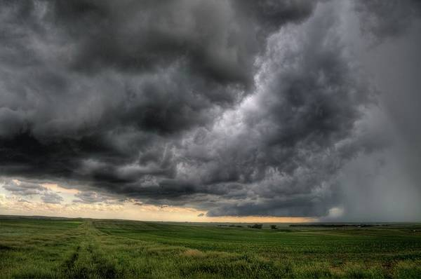 North Dakota Thunderstorm Art Print