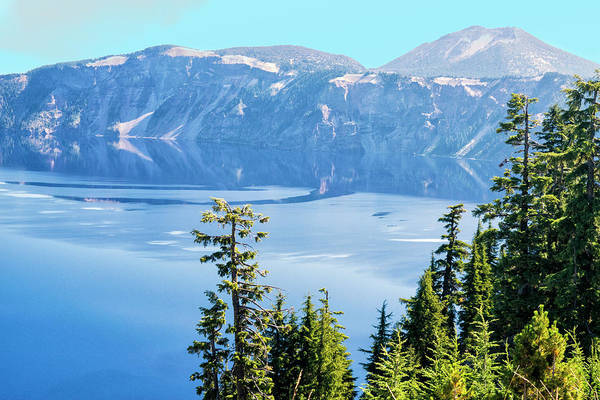 Photograph - North Rim Crater Lake by Frank Wilson