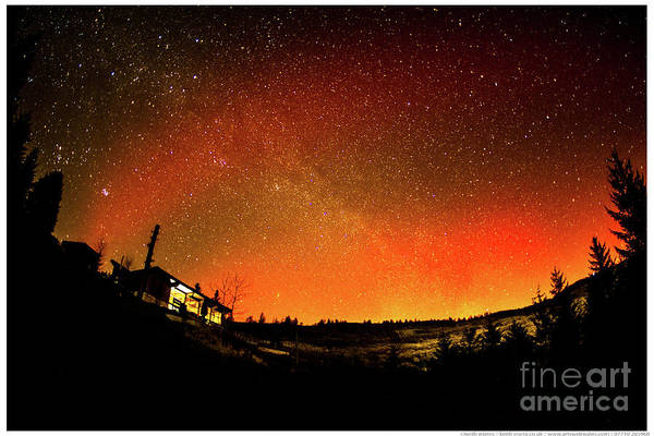 Photograph - Northern Lights Over Nant Yr Arian Wales by Keith Morris