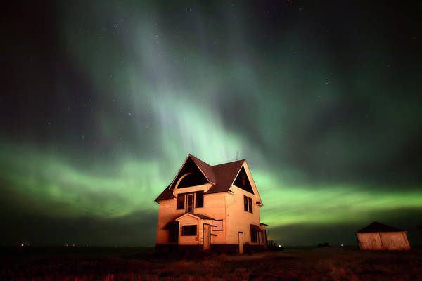 Prairie Home Digital Art - Northern Lights Over Southern Saskatchewan by Mark Duffy