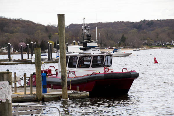 Photograph - Northport Fire Boat by Susan Jensen