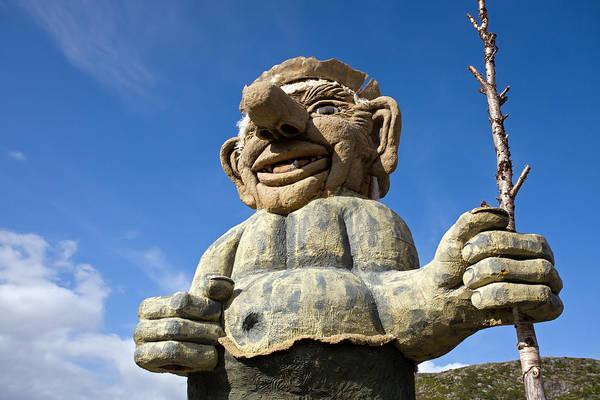 Photograph - Norway Sweden Border Troll by Aivar Mikko